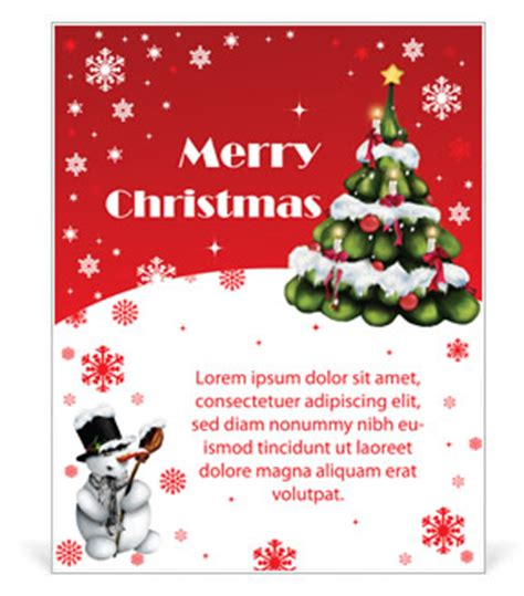 Merry Christmas Poster Template Design Id 0000003022 Smiletemplates Com Merry Template Word