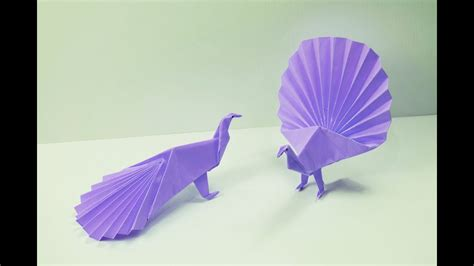 How To Make Origami Peacock - how to make a paper peacock doovi
