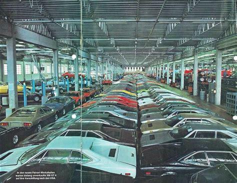 ferrari factory production line of the ferrari dino 308 gt4 in the then