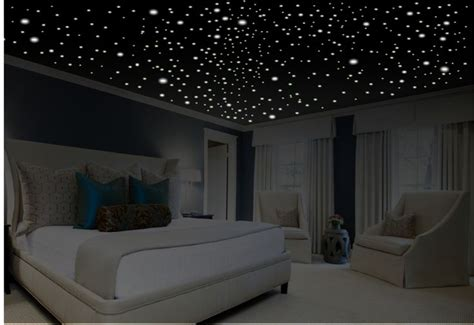 bedroom with stars as ceiling romantic bedroom decor star wall decal glow in the dark