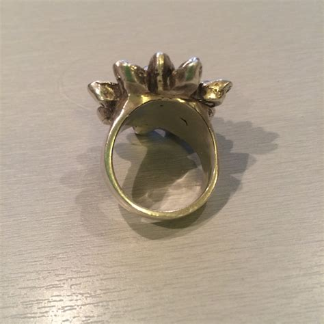 large flower ring in sterling silver 171 hi octane