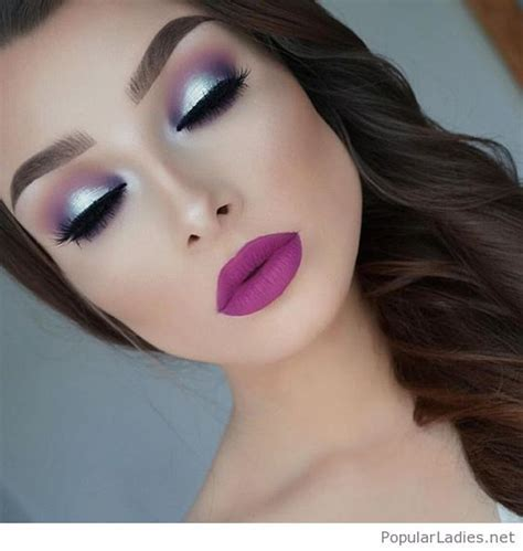 My kind of wedding makeup, love her matte pink lips