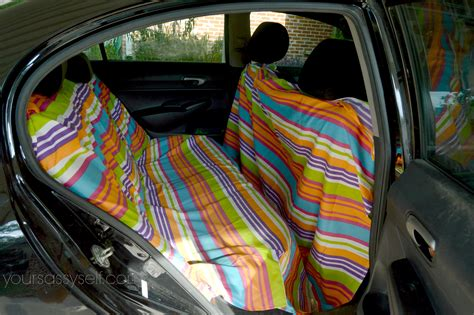 backseat hammock no sew diy backseat cover to keep your car so fresh and so clean your sassy self