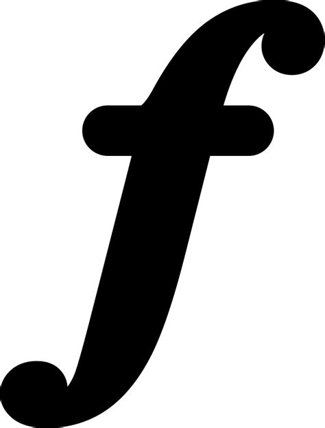 Musical Symbol Of Letter F Svg Png Icon Free Download
