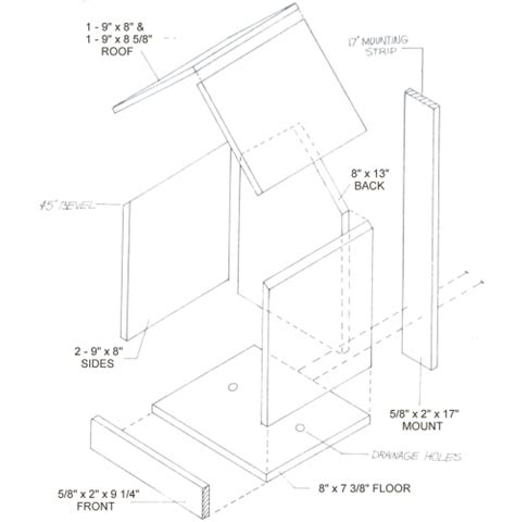 birdhouse  nest box plans   bird species