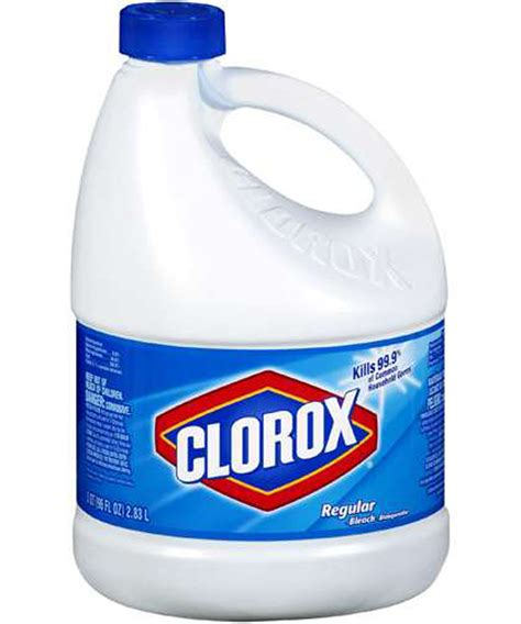 bleach bathtub clorox bleach 3 78 qt