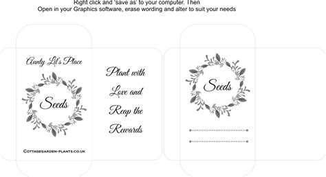blank seed packet template seed packet templates lils place personalised
