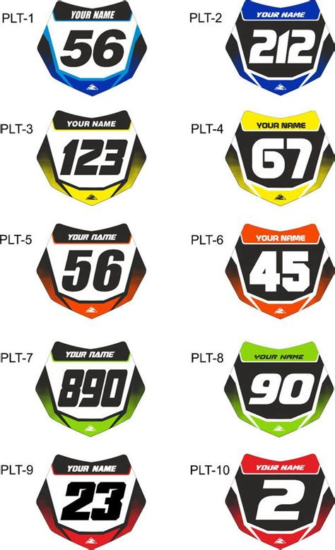 Sticker Bike Race by X10 Bmx Stickers Bmx Number Plate Race Bike Cycling Custom