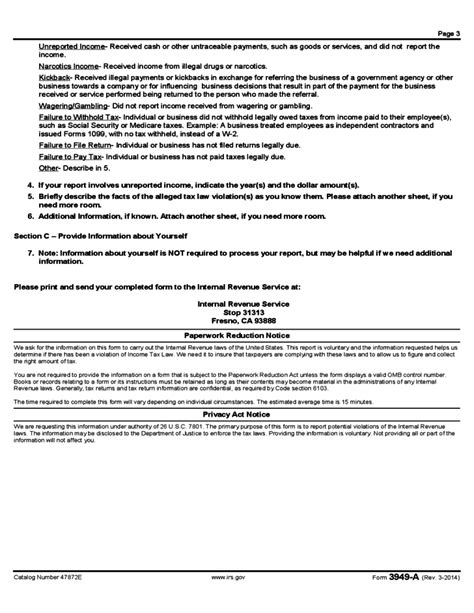 Download Irs Form 3949 A
