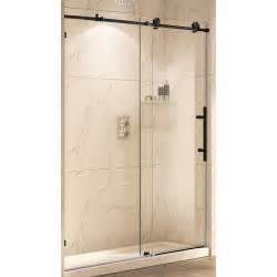 rubbed bronze sliding glass shower doors mocha 76 quot x 44 48 quot frameless sliding rubbed bronze