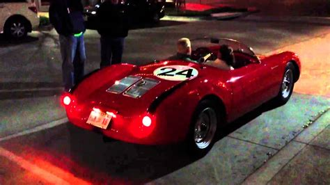 porsche spyder 1955 1955 porsche 550 spyder start up acceleration youtube
