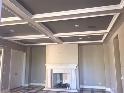 diy coffered ceiling weekend project luster custom homes