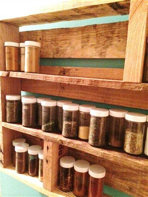 diy spice rack from wood pallet diy pallet wood spice rack 101 pallets