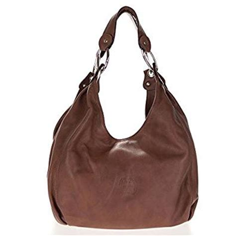 cosette italian made brown soft leather slouchy hobo