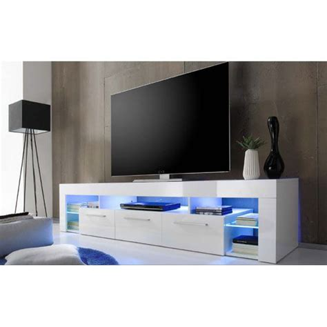 white tv stand with led lights best 25 led tv stand ideas on