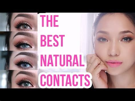 best colour changing contact lenses | dark brown eyes to