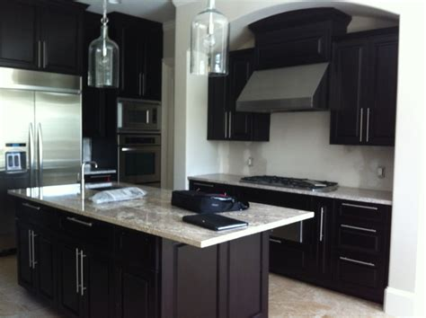 kitchen with dark cabinets kitchen decorating ideas dark cabinets the wall the