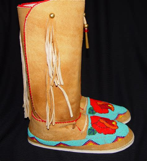beaded moccasins beaded moccasins 1b