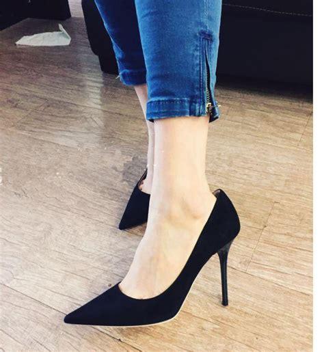 simple black high heels simple black evening high heels stiletto heels pointy