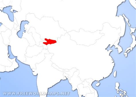 kyrgyzstan in world map where is kyrgyzstan located on the world map