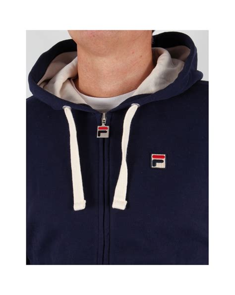 Hoodie Zipper Sweater Fila fila vintage merlo fz hoody navy hoody mens zip hooded track top navy blue