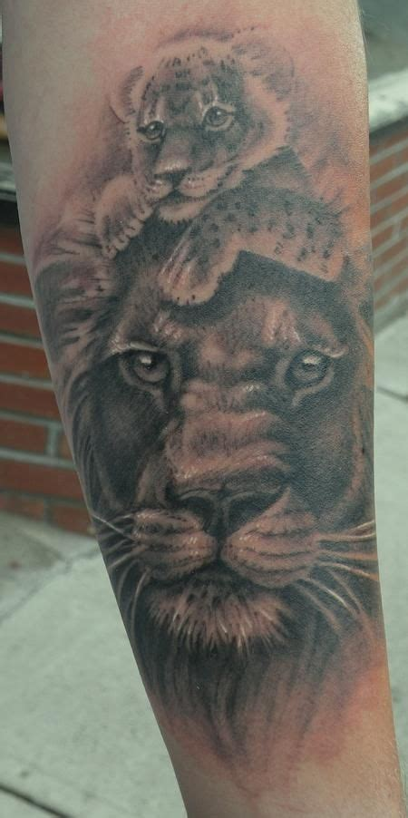 animal tattoo artist edmonton lion tattoo memorial tattoos lion art father and son