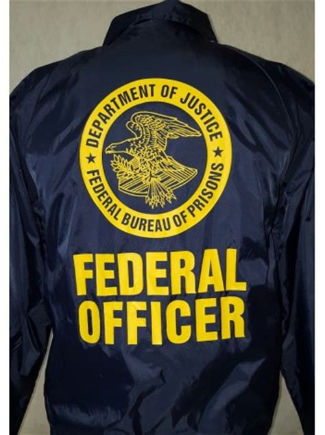 Federal Officer by Bop Windbreaker Silkscreen Seal And Bop Seal Federal