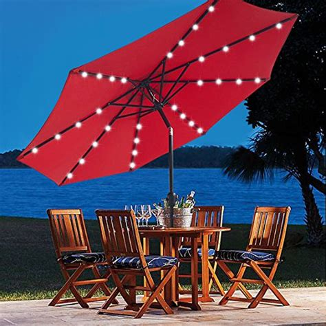 5 best patio umbrella with solar lights cheap led