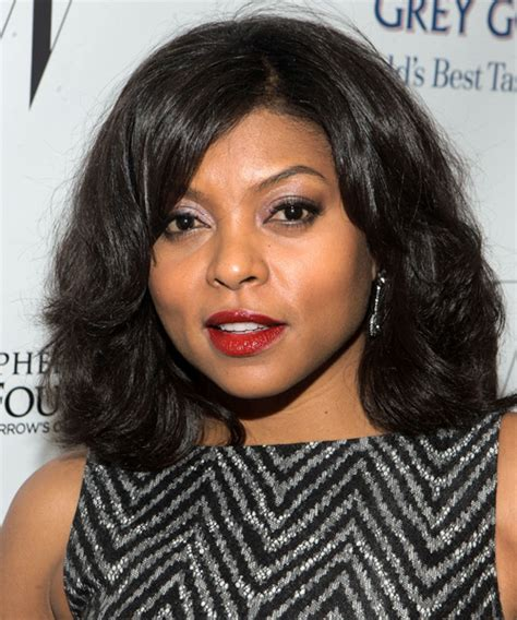 taraji p henson long wavy hairstyle pictures to pin on pinterest taraji p henson medium wavy casual hairstyle black