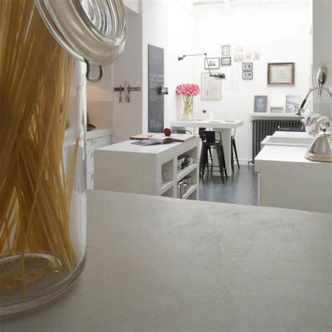 béton ciré plan de travail cuisine salon turquie moderne