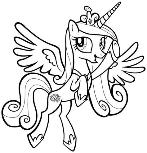 my little pony cadence coloring pages my little pony coloring pages pony coloring pages mlp