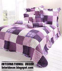 Quilted Silk Coverlet Stylish Purple Bedding Models Purple Duvets Designs