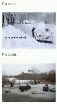 snow in south north and south winter