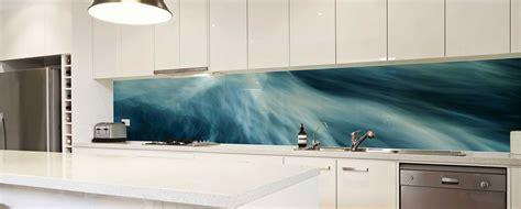 colorful glass backsplash ideas adding digital prints to clear glass splashback with great mirror glass