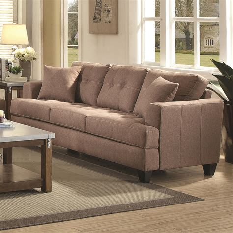 coaster samuel sofa sofa with tufted cushions dunk