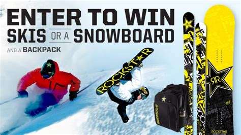 Snowboard Giveaway Contest - rockstar and c k market ski snowboard sweepstakes rockstar energy drink