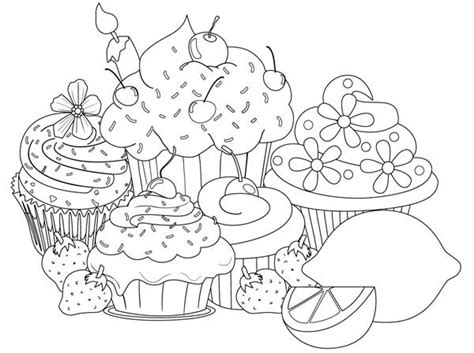 large cupcake coloring page cupcake free colouring pages