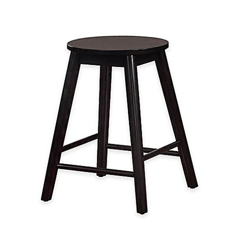24 inch backless bar stools buy denville 24 inch backless counter stool in black from bed bath beyond