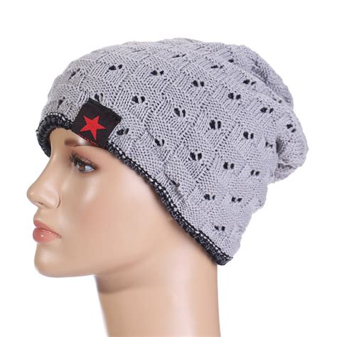 Handmade Woolen Caps - unisex winter warm baggy cap beanie woolen knitted