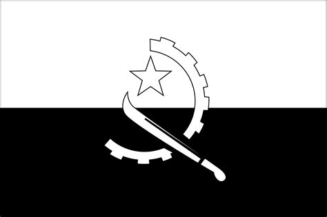 flags of the world black and white flag of angola 2009 clipart etc