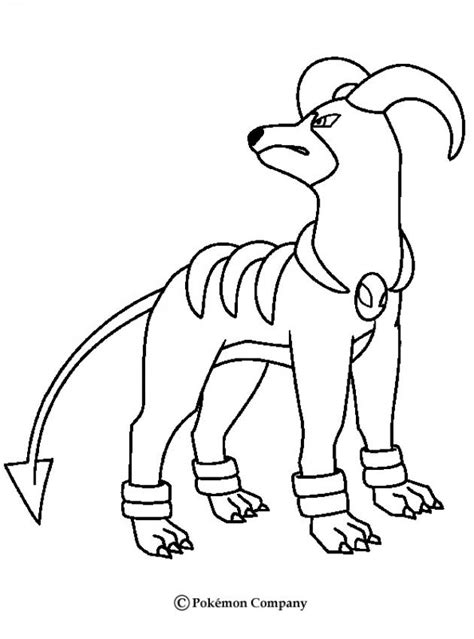pokemon coloring pages fire fire pokemon coloring pages dark houndoom coloring home