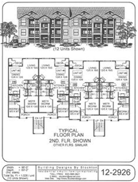 6 plex bigger unit 3 bar 72x74 apartment house plan 6 plex bigger unit 3 bar 72x74 apartment house plan