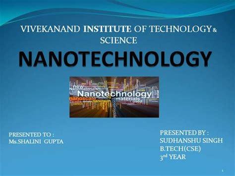 nanotechnology ppt authorstream