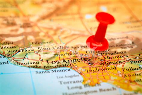 los angeles map usa los angeles map usa stock photos freeimages