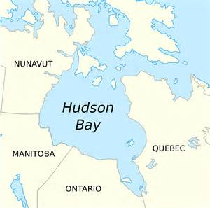 where is bay on a map of canada hudson bay