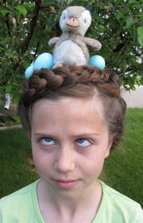 diy crazy hairstyles bird nest easy halloween or crazy hair day at school
