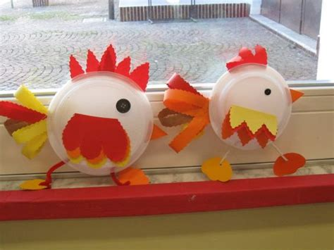 Paper Plate Chicken Craft - language cycles and crafts on