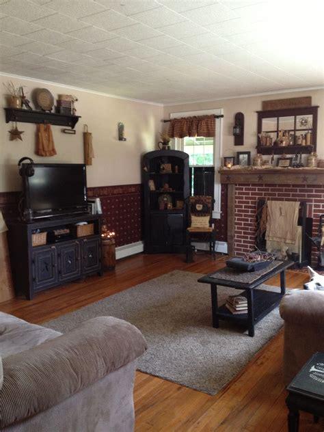 primitive living room primitive  country home decor