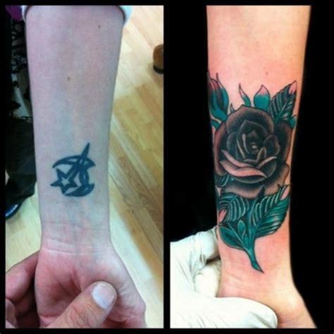 blue and black rose tattoo 52 wrist tattoos