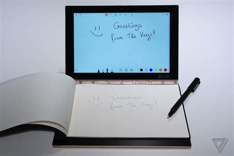 Home Drawing Software i ve fallen in love with lenovo s yoga book the verge